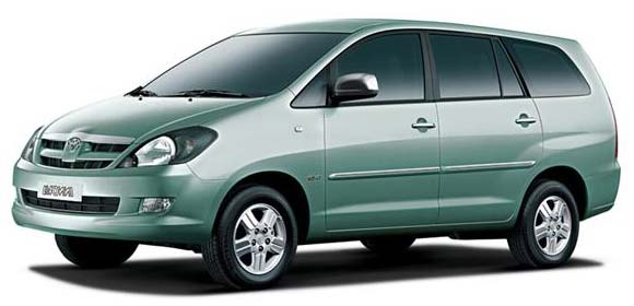 Toyota Innova car with indian driver